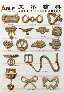 China Elaborated Design Metal Shoes Buckles Accessory , Horse Belt Decorative Shoe Buckles on sale