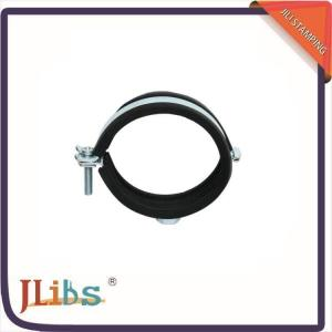 China Pipe Clamp Fittings Heavy Duty Hose Clamps With Rubber Profile / Combi Nut on sale