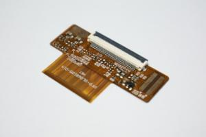 China Double Sided Flexible Print Circuit with White Silkscreen Surface Mount Assembly on sale