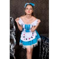 China sexy blue maid costume for adults, sexy lingerie supplier on sale
