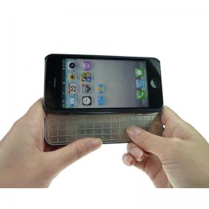 China Black Bluetooth iPhone 5S keyboard case WITH 155 * 128 * 30mm SIZE on sale