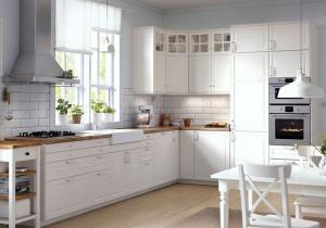 China Wood Grain Melamine Board Kitchen Cabinet / Home Modern Wooden Kitchen Cupboards on sale