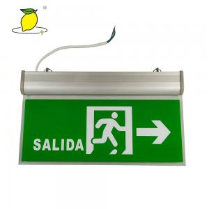 China Green Thermoplastic LED Emergency Exit Sign For Office Building on sale