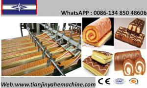 China Stainelss Steel Made Automatic Swiss Roll Cake Production Line on sale
