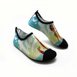 Quality Foldable Swimming Pool Shoes Ladies Wear - Resistant Lycra Upper PVC Sole for sale