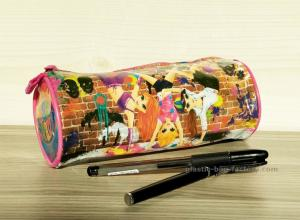 China Full Printing Girl Stationery Pencil Pouch , Non-toxic Vinyl Stationery Organizer Bag on sale