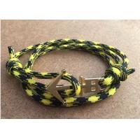 Gold Plated Nautical Skull Anchor Bracelet Trashness Zinc Alloy Charm Paracord Nylon Rope