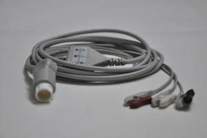 China HP12P ECG CABLE 3-Lead CLIP,3.5m on sale
