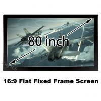 China High Definition 80Inch Flat Frame Screen 3D Projector View Wall Mount Screens 16:9 Ratio on sale