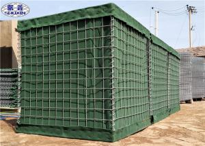 China Galfan Coated Geotextile Linded Welded Hesco Defensive Barriers Military Green on sale