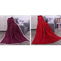 China Solid Color Heavy PV Fleece Fake Fur Blankets And Throws Two Layers Anti - Pilling on sale