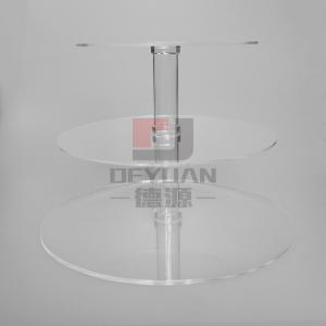 China Acrylic Cake Stand Three or Four Tiers Flat Packing Plastic Cake Stand on sale