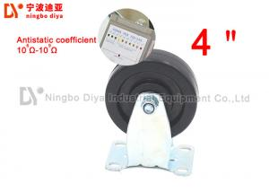 China PU Black Industrial Dolly Wheels Anti Static Wear Resistant With Brake on sale
