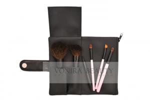 China 6 Piece Professional Convenient Makeup Brush Collection Copper Ferrule And Makeup Bag on sale