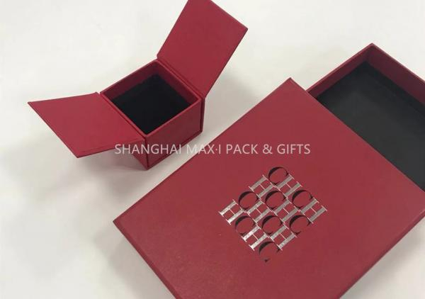 f5010f71f Little Red Fancy Jewelry Box For Rings Only Logo Printing Paper Wrapping 2  Sides Images