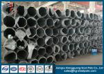 Flange Connected Dodecagonal Galvanized Transmission Line Steel Tubular Pole