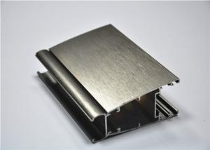 China 6063-T5 Brush Champagne Anodizing Aluminium Extrusion Profile for Window / Door on sale