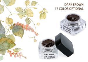 China Organic Colour Eyebrow Tattoo Pigment Dark Brown Eyebrow Microblading Ink Pigments on sale
