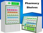 No Harm Glass Door Pharmacy Display Shelves Friendly Material 1200*450*950mm