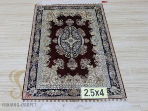 China factory offer hand knotted pure silk persian carpet on sale
