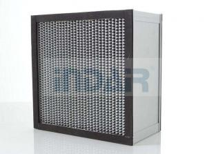 China SUS304 Frame Clean Room HEPA Air Filter H13 With High Temperature Resistance Panel on sale