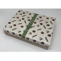 Little - Giant Big Christmas Gift Boxes For Kids Wood Pattern Decoration Ribbon Tag Included