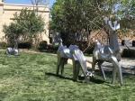 Outdoor Stainless Steel Metal Animal Sculptures , Garden Large Animal Sculptures