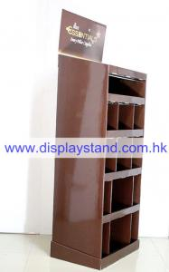 China 12 Pockets and 1 Shelf Retail Cardboard Floor Display Stand for Coffee , Header Printed 4C , Body 1C Printed on sale