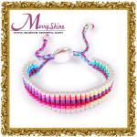 Le reinbow femelle à la mode lie des bracelets d'amitié avec l'OEM/ODM disponibles - LS052