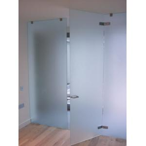 China Customized Frosted Tempered Glass Door For Meeting Room High Strength on sale