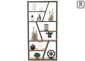 China Rustic Chic Industrial Style Loft Style Shelving Trapezoidal Frame Storage on sale