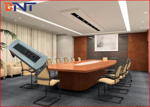 UK Standard Desktop Conference Table Socket Table Manual Rotating - Conference room table power strip