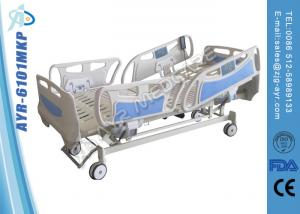 China ICU Old Man Hospital Bed , Medical Electric Nursing Bed With ABS Soft Joint Bedboard on sale