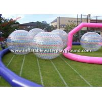 Sports Game Inflatable Zorb Ball Walk In Plastic Bubble Ball , Human Sized