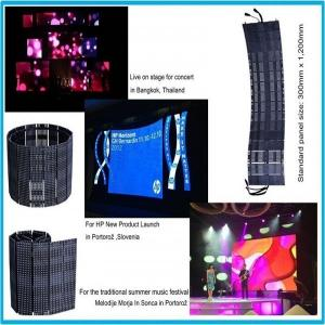 China Waterproof LED Display Panel Outdoor Curtain Screen P18.75 6500K 650 W / pcs on sale
