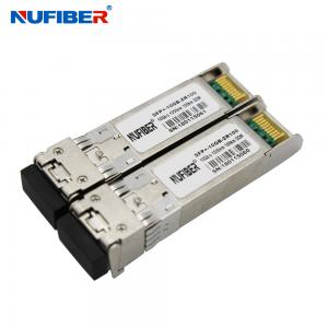 China 10Gb/s SFP+ Transceiver SFP-10G-ZR dual fiber singlemode 80km 1550nm LC DDM on sale