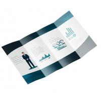 Foldable Business Card Printing , A5 Leaflet Printing Art Paper Full Color