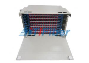 China 144 Core 8U ODF Fiber Optic Patch Panel With FC Square Fiber Adapter , Rack Mount Patch Panel on sale