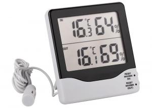 China Digital Big LCD indoor outdoor thermometer hygrometer with MAX MIN CLEAR on sale