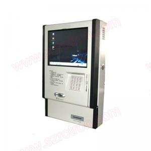 China Super slim customized 17 inch wall mounted touch screen kiosk with keypad on sale