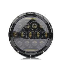 7 Inch 75W LED Driving Lights 3200LM High Bream / 2000lm Low Beam Round Shape Jeep Fog lights