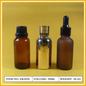 China Frosted Glass Essential Oil Bottles with Hot Stamping Printing on sale