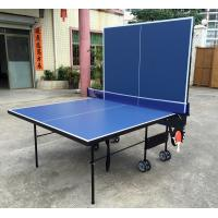 9FT Folding Indoor Table Tennis Table MDF Ping Pong Table Metal Accessories Rack