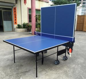 China 9FT Folding Indoor Table Tennis Table MDF Ping Pong Table Metal Accessories Rack on sale