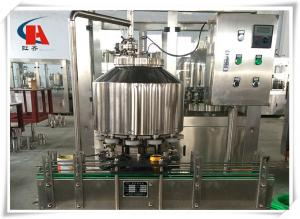 China Carbonated Soft Drink Bottling Machine , Bottling Line Equipment 0.4Mpa Heating Steam Pressure on sale