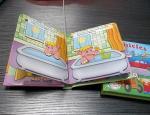 Livro do cartão das crianças, o livro de crianças feito sob encomenda da impressão, livro do cartão