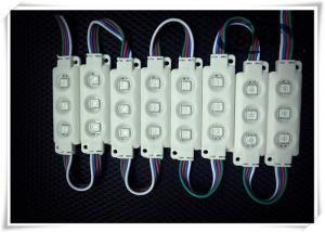 China 3 Chips 5050 RGB LED Module Super Brightness Low Power Consumption With Lens on sale