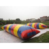 Big Colorful Inflatable Water Launch , Water Blob For Water Tower