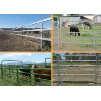 Easily Assembled Farm Fence Panels 1.8*2.1m Round Pipe Cattle Yard Gates