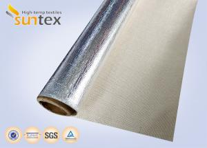 China Reflective Aluminum Foil Fiberglass Fabric For Flexible Connector Duct on sale